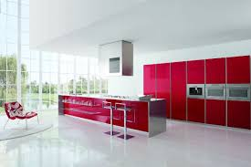 Red Kitchen White Cabinets Modern Kitchen Designs With Red And White Cabinets Home