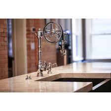 waterstone kitchen faucets waterstone 5100 sn wheel satin nickel pro pre rinse units kitchen