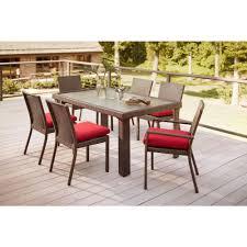 Hampton Bay Belleville 7 Piece Patio Dining Set - simple ideas home depot outdoor dining table attractive