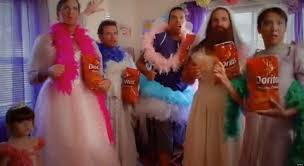 doritos super bowl commercial fashionista dad plays dress up in