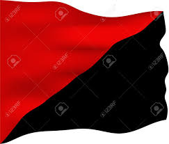 Black White Black Flag Red And Black Flag Symbol Of The Anarcho Syndicalist And Anarcho