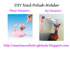 meet me on the bright side diy nail polish holder tutorial