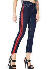 American Flag Skinny Jeans Red White N U0027 Rude Dolls Kill
