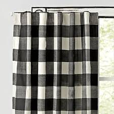 Black Check Curtains Buffalo Check Curtains Crate And Barrel