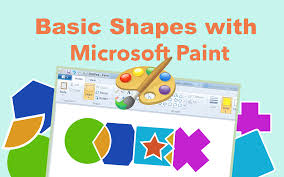 basic shapes with microsoft paint code is cool