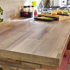 table de cuisine en stratifié plan de travail stratifié effet bois cabane mat l 315 x p 65 cm ep