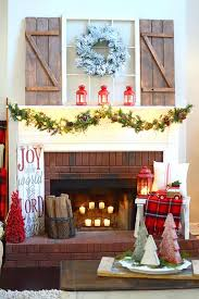 fireplace fancy christmas fireplace for home design christmas