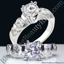 large diamond rings tension set large diamond curved 8 prong engagement ring bbr331e