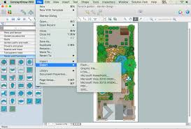 Home Design Online Visio Landscape Shapes
