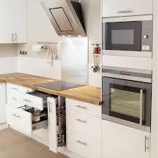 les meubles de cuisine meuble de cuisine blanc delinia leroy merlin
