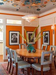 25 trendy dining rooms with spunky orange lovely blend of blue and orange in this vibrant dining room design adeeni design