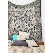 tree of life elephant tapestry beige color