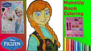 frozen artist book anna makeup toy tutorial kids