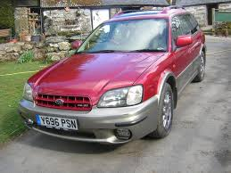 subaru metallic 01 subaru legacy outback 3 0 h6 auto luxpack estate metallic red