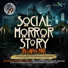miami beach halloween party 2017 the social horror story halloween party tickets sat oct 29