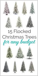 15 gorgeous flocked trees for any budget lovely etc