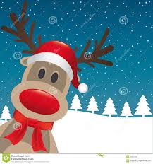 reindeer red nose santa claus hat royalty free stock image image