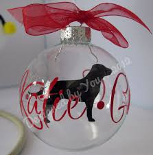 personalized breed floating ornament