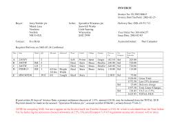 word document invoice template blank doc