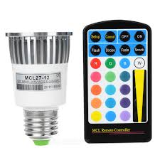 16 color remote controlled led light bulb with multiple effects e