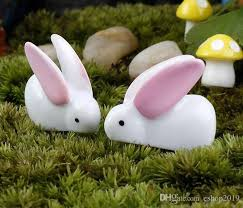 artificial mini rabbits ornaments garden miniature moss
