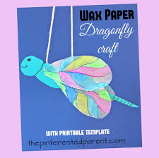 printable wax paper wax paper dragonfly craft the pinterested parent
