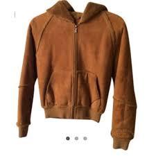 ugg australia jackets sale 64 ugg outerwear ugg chestnut suede fur lined jacket from