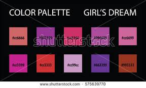 color palette code vector mix swatches stock vector 575639806