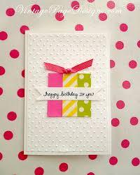 super simple handmade birthday card three pieces of washi tape