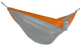 vivere parachute hammock double grey orange the home depot