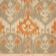 richloom marlena ikat orange discount designer fabric fabric com