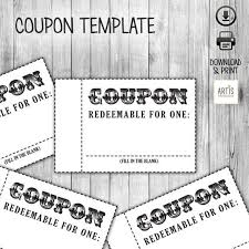 blank kid coupon template chore list ideas pinterest coupon