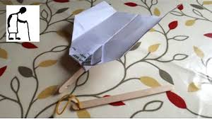 Stick Paper Paper Plane And Popsicle Stick Launcher Youtube