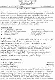 sample resume for experienced mainframe developer lovely job