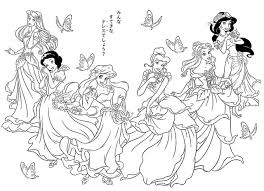 disney princesses coloring pages free download