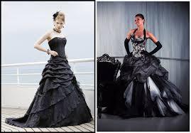 robe de mari e gothique robe de mariée gothique noir et blanc