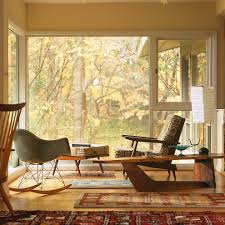 mid century modern window treatments living room midcentury with