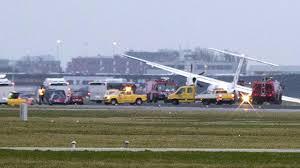watch as flybe flight from edinburgh crashes on amsterdam runway