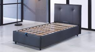 Lift And Storage Beds Osaka Lift Up Storage Bed Leather Textile Twin By Sunset