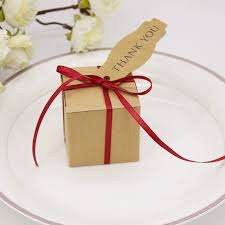 gift box with ribbon 200 x simple square kraft gift boxes with ribbon card white