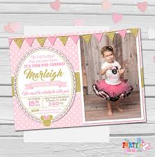 design exquisite minnie mouse clubhouse 1st birthday invitations