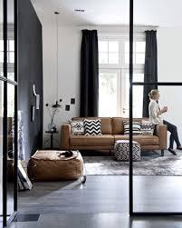 canape deco cuir du cuir dans la déco du salon salon canapé canapés et salon