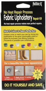 amazon com restor it fabric upholstery repair kit includes 7 1 8