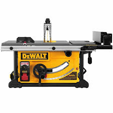 dewalt table saw guard dewalt dwe7499gd 10 jobsite table saw with guard detect 32 1 2