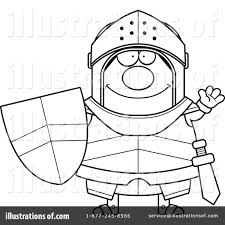 knight clipart 1176580 illustration by cory thoman