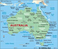 map of australia and oceania countries and capitals australia map with countries and capitals major tourist