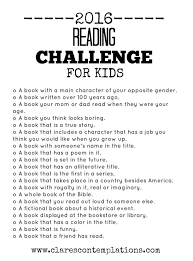 Of Challenge Clare S Contemplations 2016 Reading Challenge For