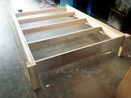 Building A Platform Bed With Legs by Diy Liam Barn Light Bed The Hall Way