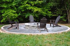 nice backyard addition with diy fire pit ideas using stone