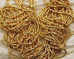 Handmade Seed Beaded Gold Plated Seed Beads Etsy